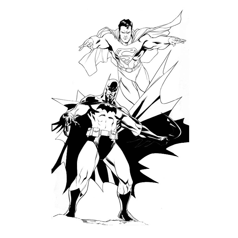 le coloriage superman batman pour imprimer le coloriage superman