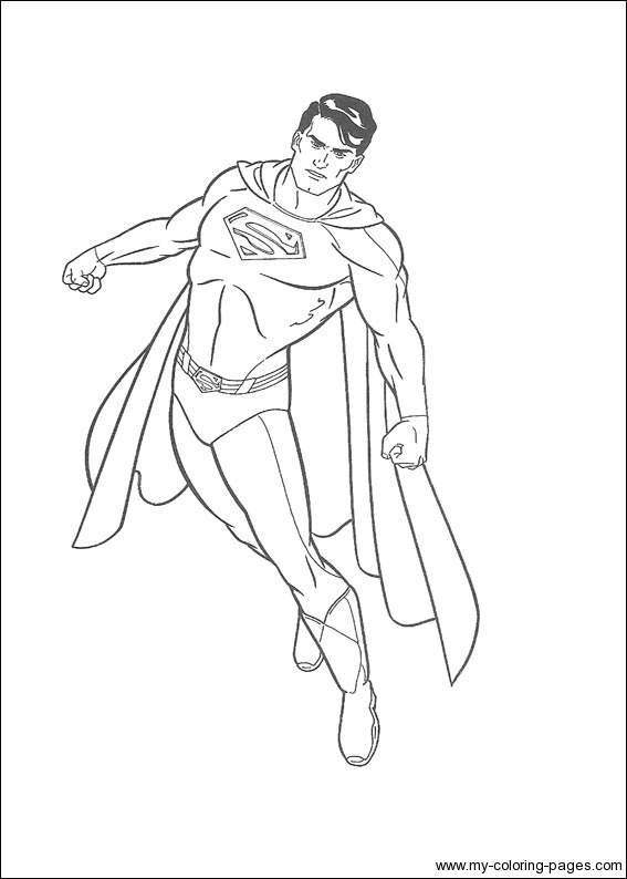 superman coloriage pages