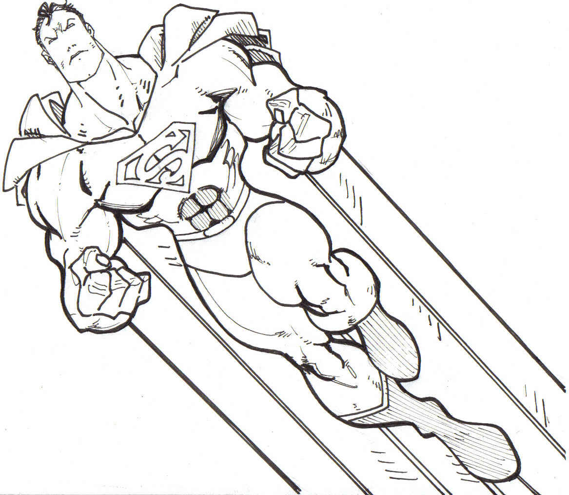 superman dessins à colorier
