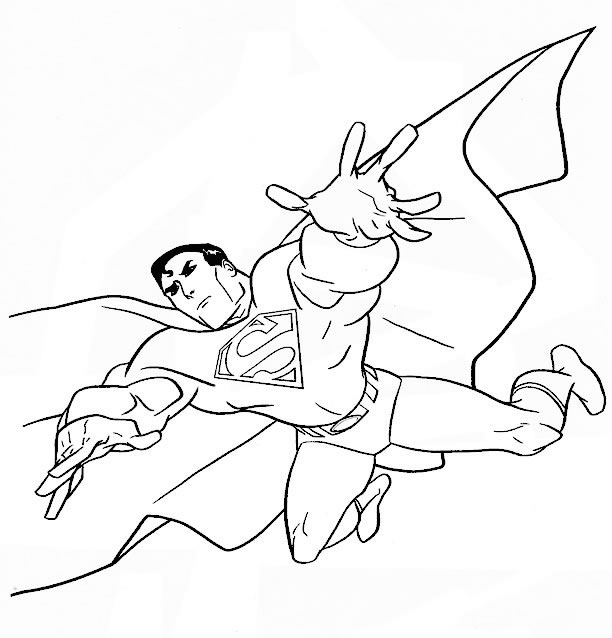 coloriage superman le sauveur et dessin à colorier superman le