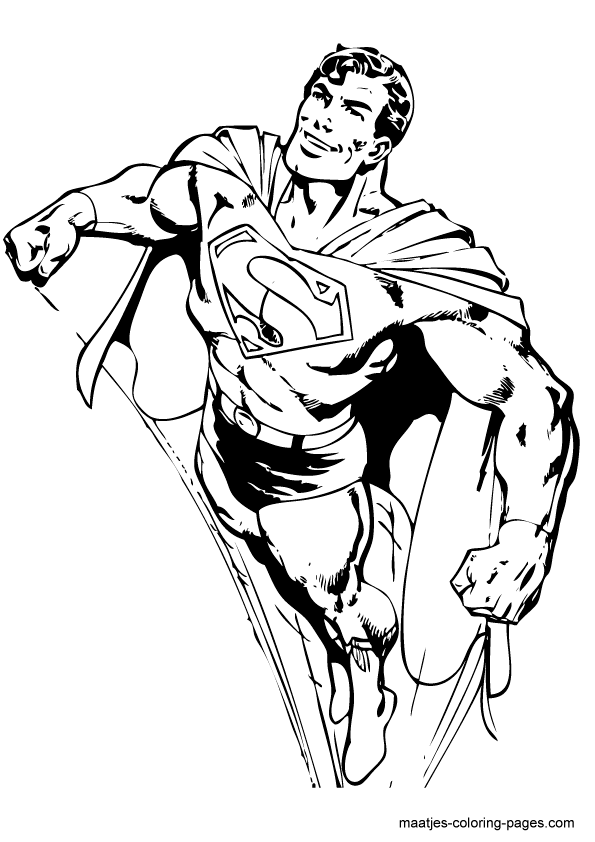 superman dessin à colorier