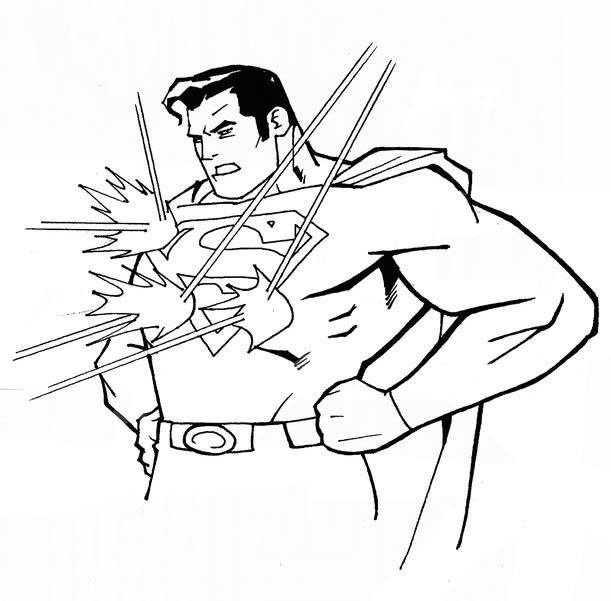 coloriage superman, super pouvoir et dessin à colorier superman