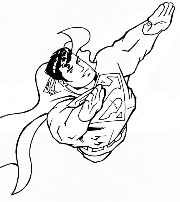 coloriage superman vole et dessin à colorier superman vole avec