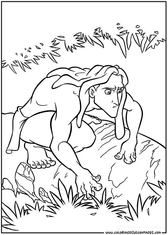 coloriages tarzan coloriage