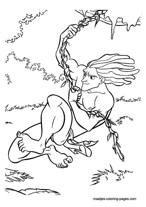 tarzan dessin à colorier