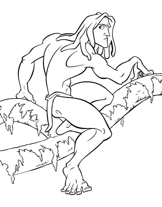 disney tarzan print dessins à colorier.