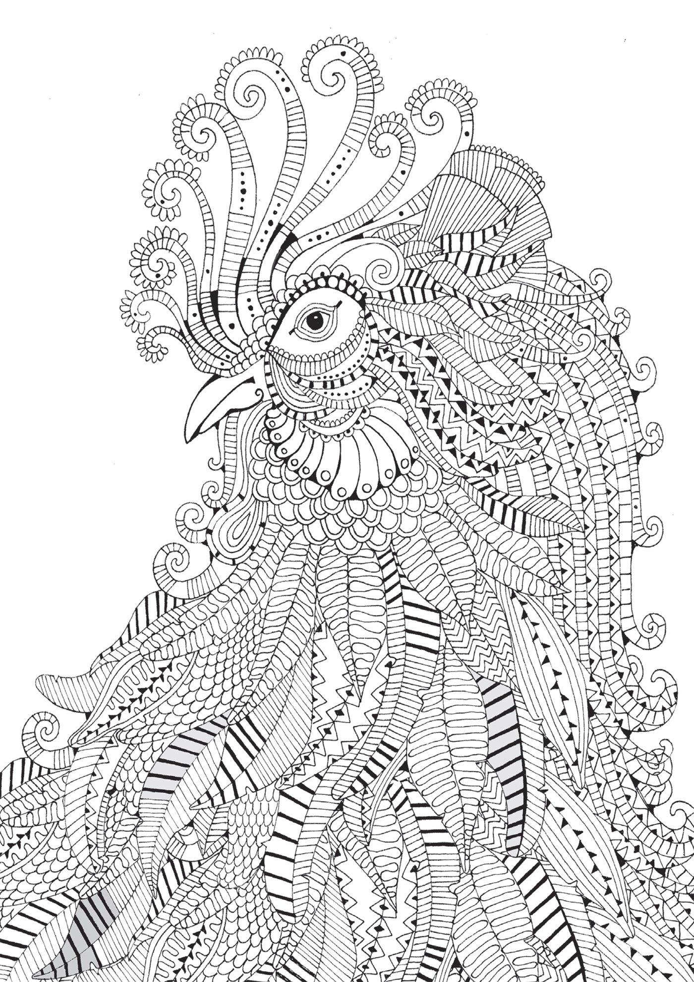 38 dessins de coloriage th rapeutique imprimer sur - Coloriage minutieux ...