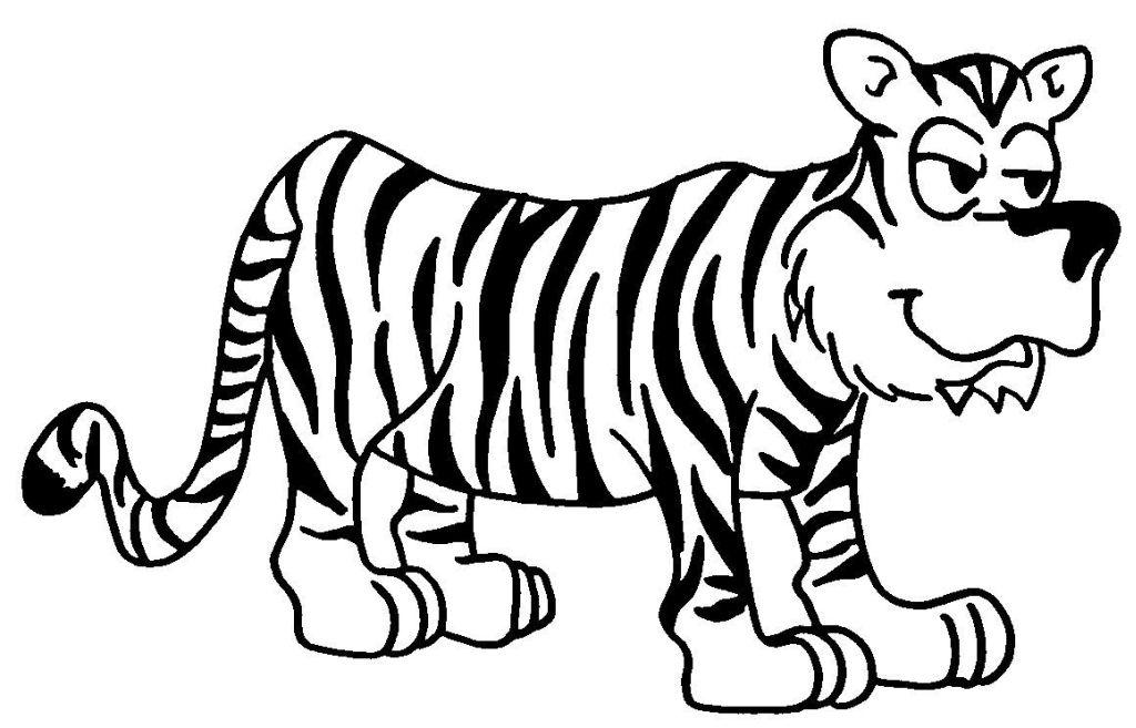 72 dessins de coloriage tigre imprimer sur page 2 - Image dessin tigre ...