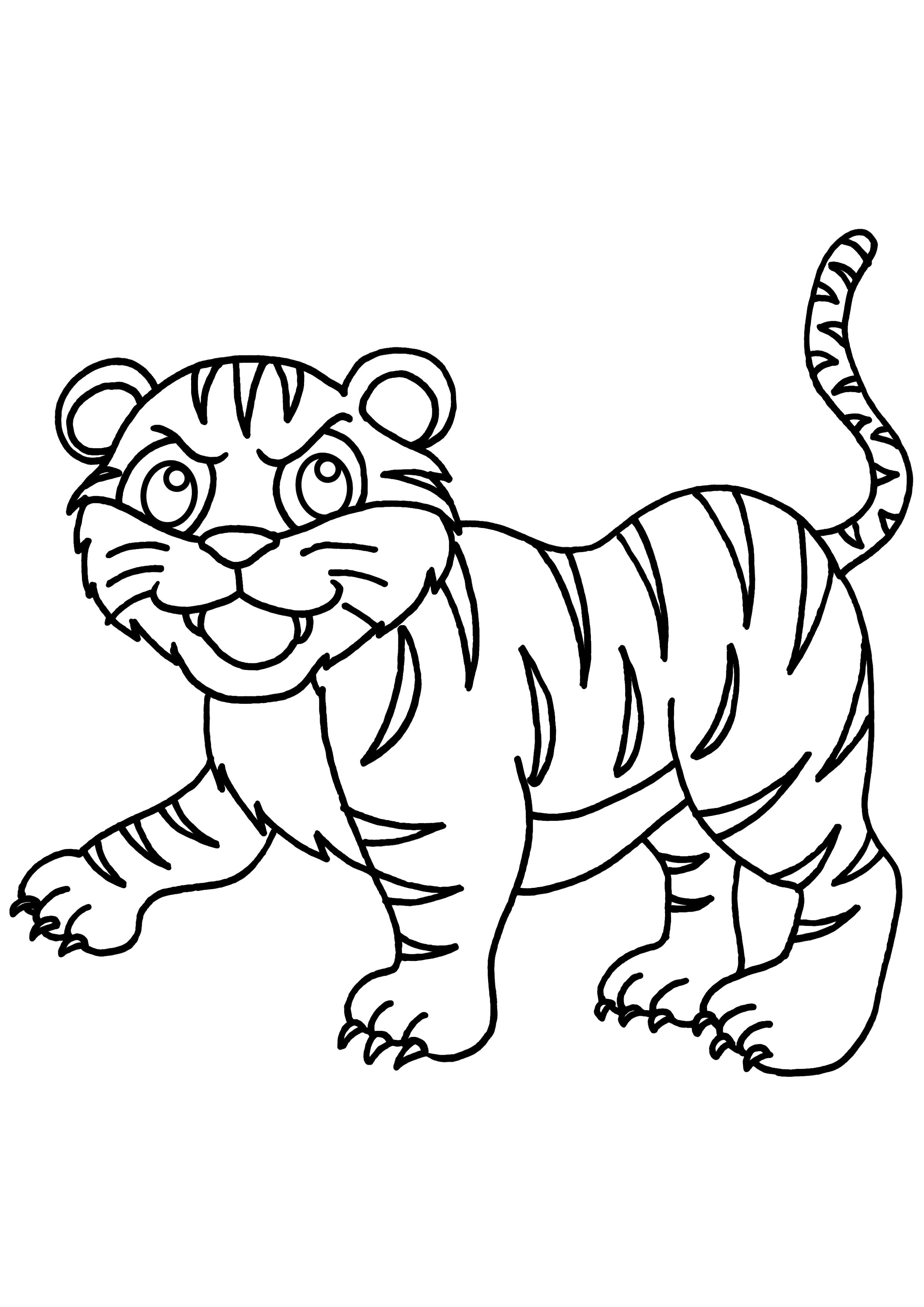 72 dessins de coloriage tigre imprimer sur - Image dessin tigre ...