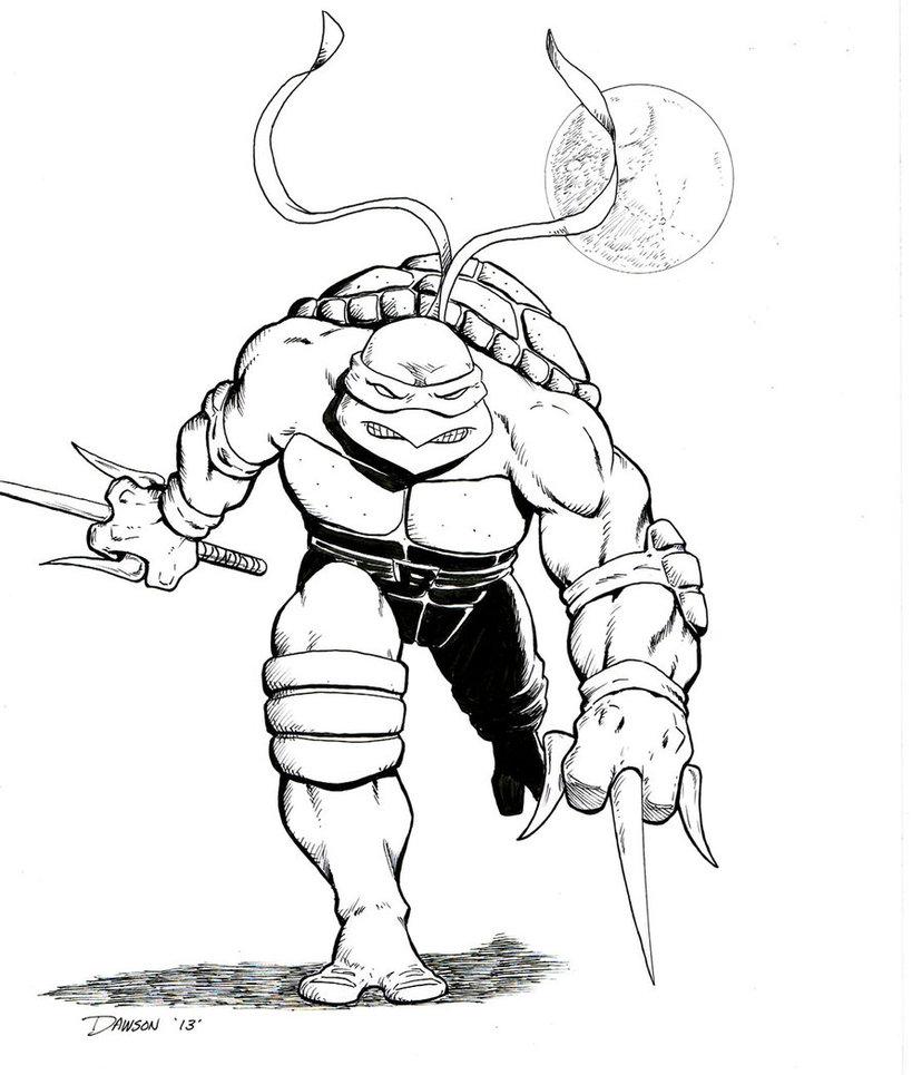 ninja turtle dessin à colorier