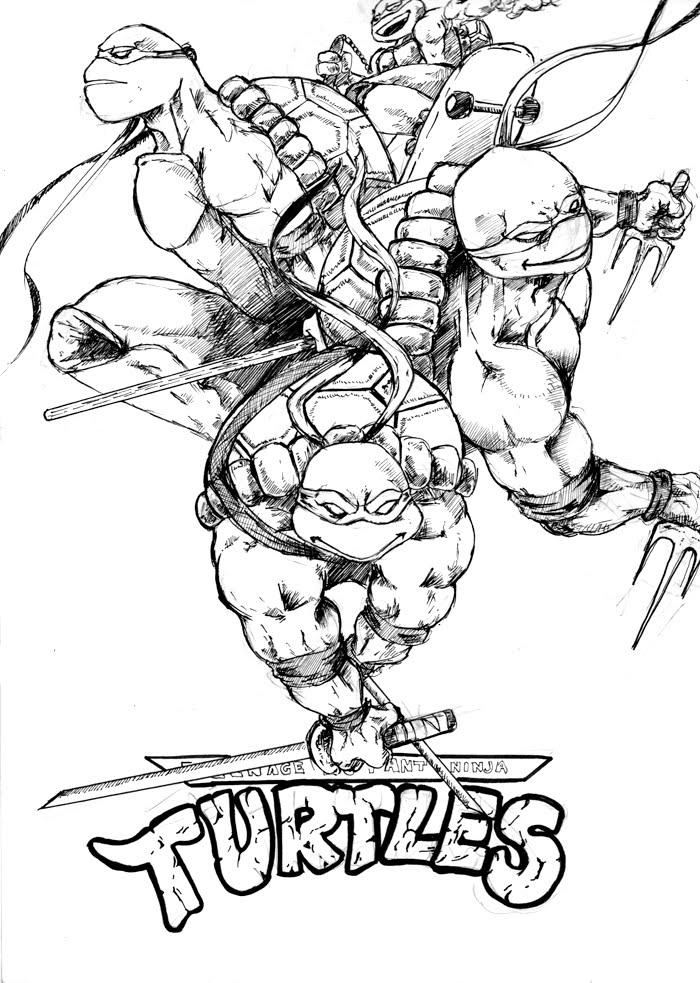 106 Dessins De Coloriage Tortue Ninja 224 Imprimer Sur