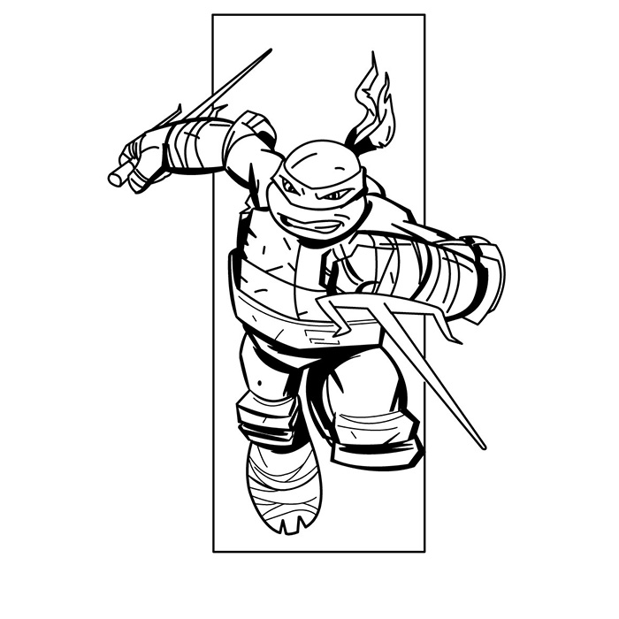 coloriage tortues ninjas raphael a imprimer gratuit