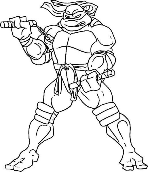 dessin à colorier dessins à colorier of leonardo the ninja turtle coloriage