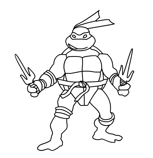 ninja turtles dessins à colorier