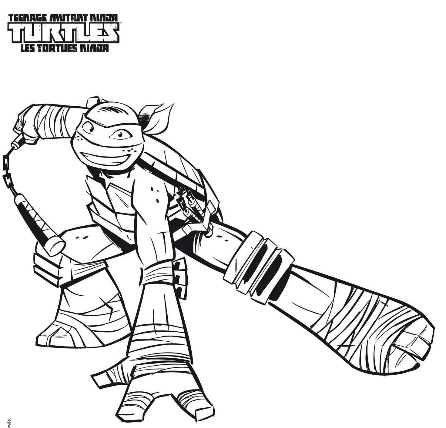 Splinter coloring pages - Coloriage tortue ...