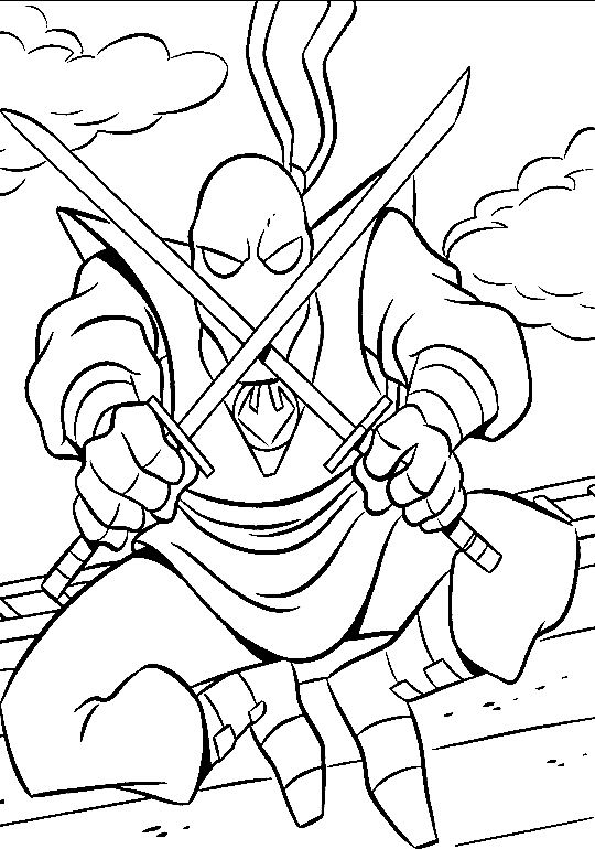 coloriage les tortues ninja