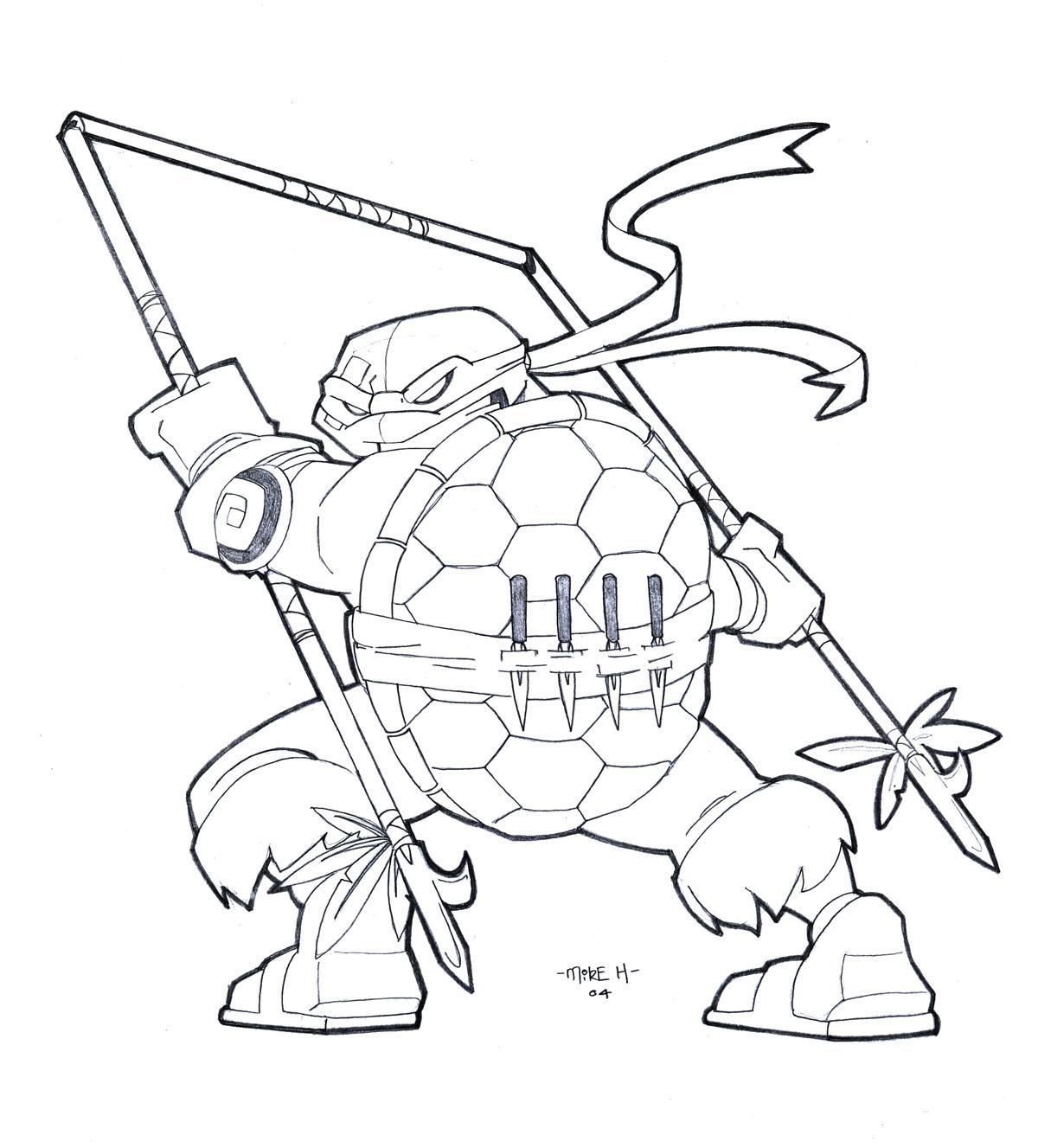 ralph ninja turtle dessin à colorier ralph ninja turtle dessin à colorier