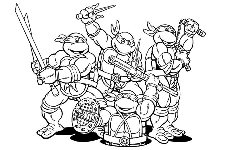 coloriage tortue ninja nickelodeon animaux
