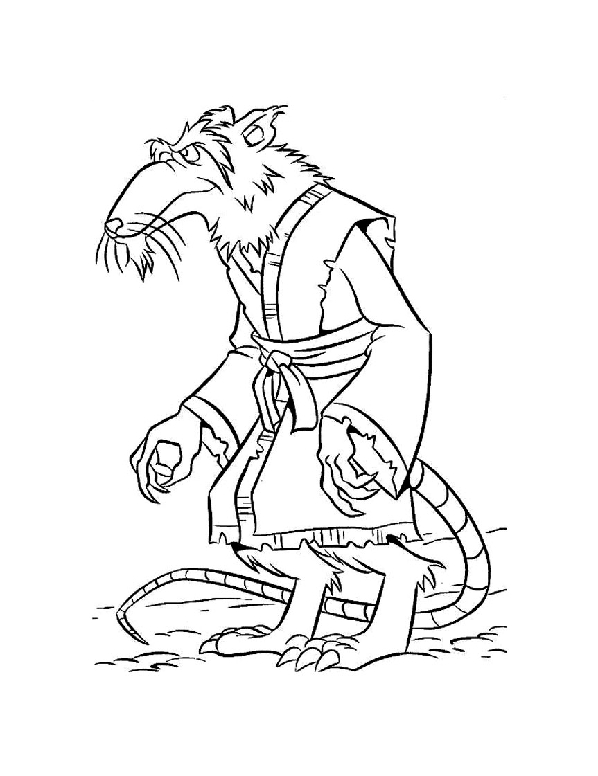 coloriage tortue ninjrat splinter dans coloriage tortues ninja