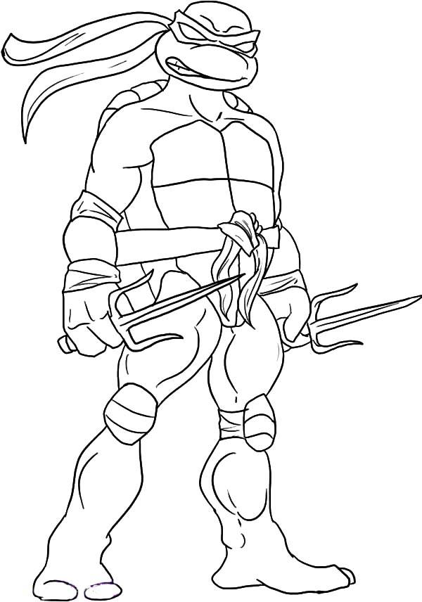 coloriage tortue ninja raphael animaux