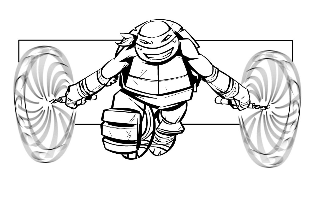 coloriage tortue ninja dans coloriage tortues ninja coloriages