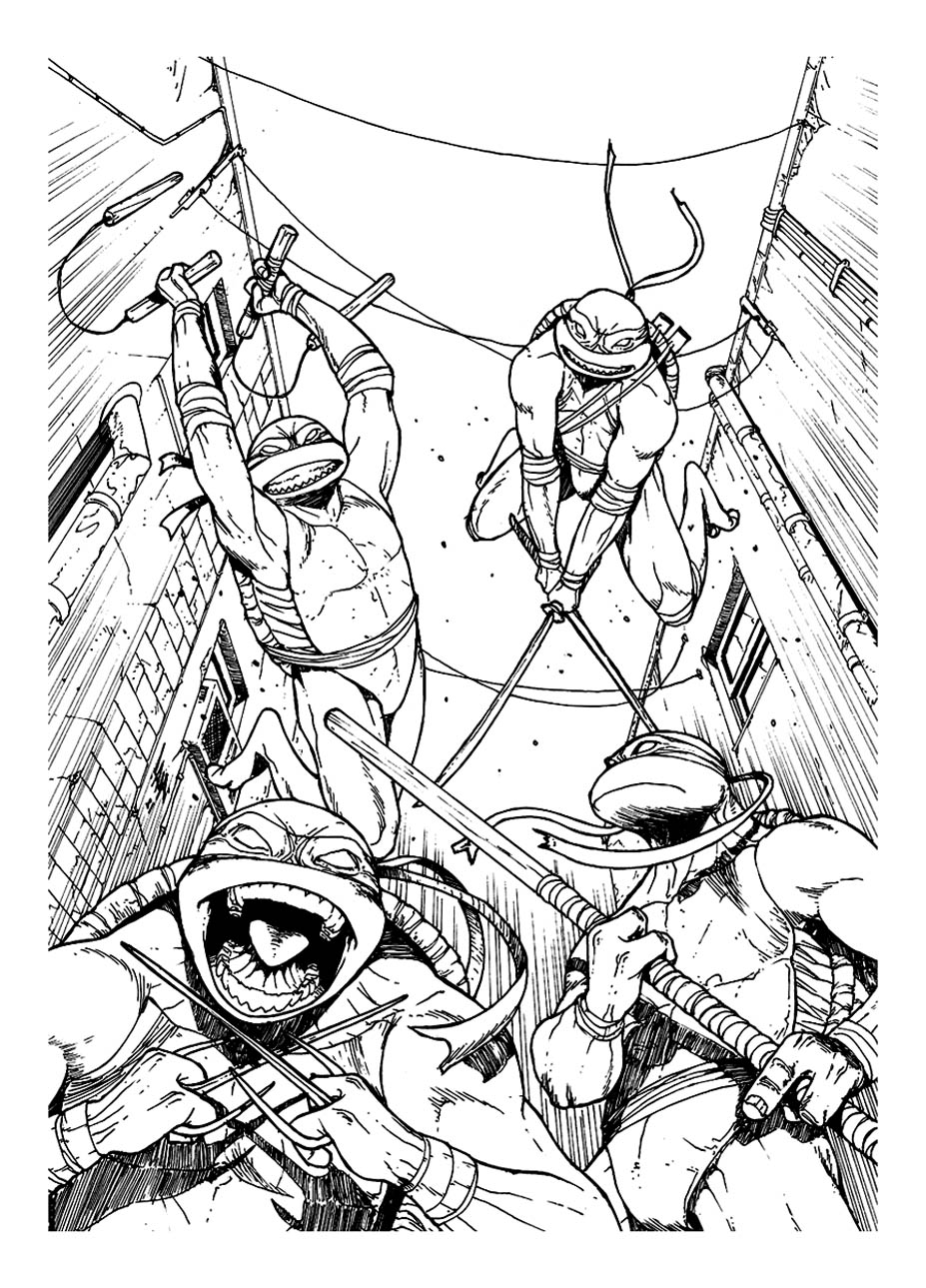 106 dessins de coloriage tortue ninja imprimer sur - Rat dans tortue ninja ...