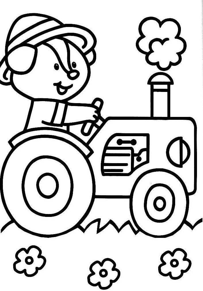 S lection de dessins de coloriage tracteur imprimer sur page 1 - Coloriage pour 3 ans a imprimer ...