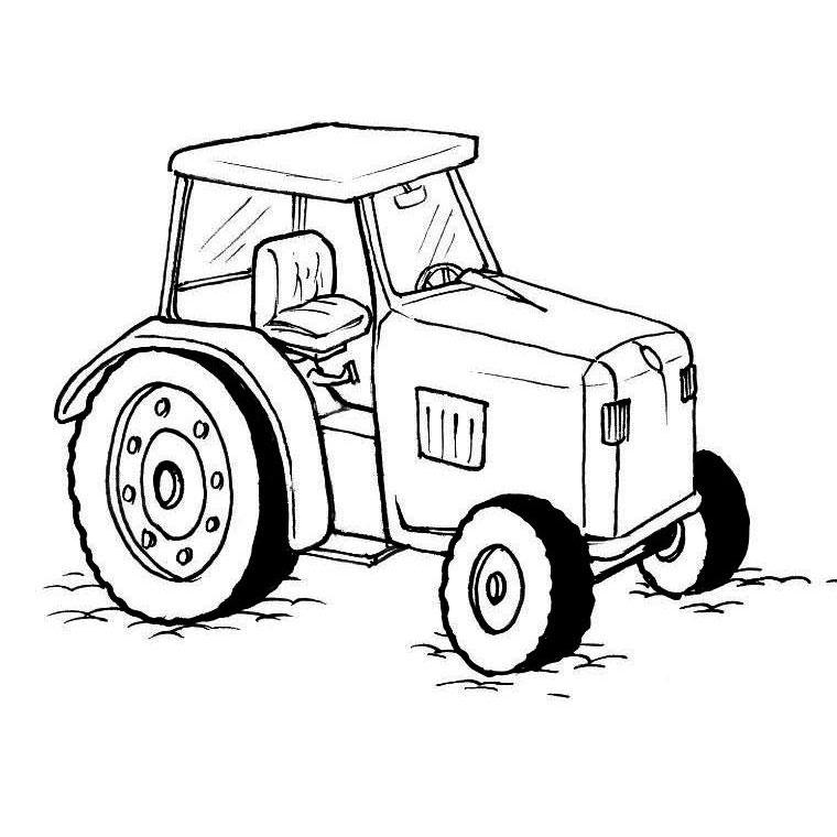 Sélection de dessins de coloriage tracteur à imprimer sur ...
