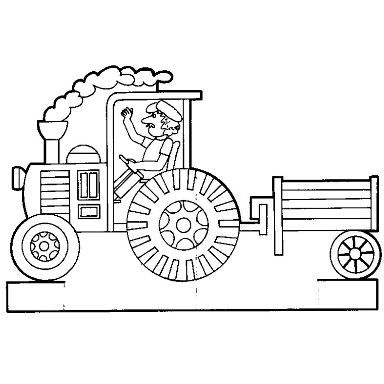 S lection de dessins de coloriage tracteur imprimer sur - Jeux de tracteur agricole gratuit ...