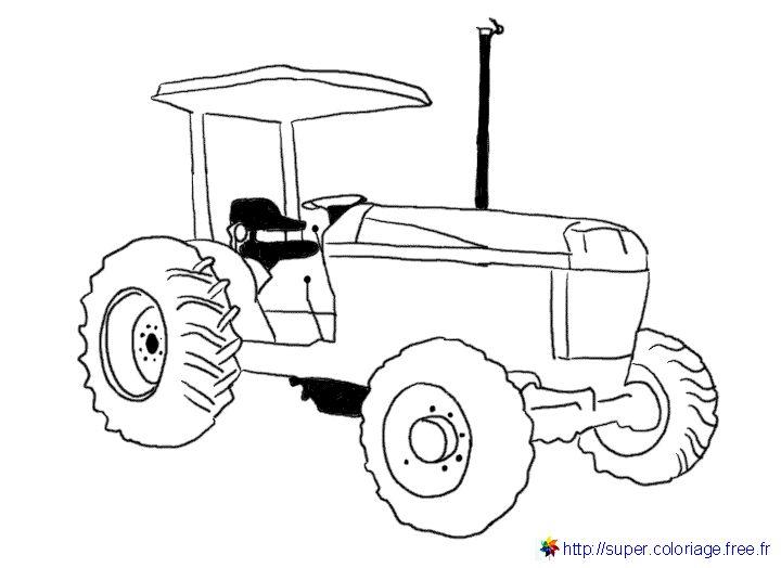 S lection de dessins de coloriage tracteur imprimer sur - Tracteur a colorier ...