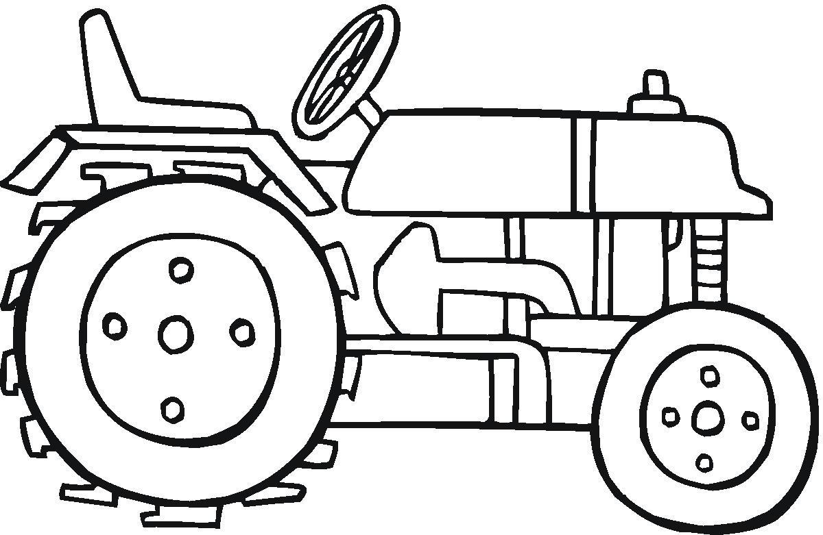 Sélection De Dessins De Coloriage Tracteur à Imprimer Sur LaGuerche.com