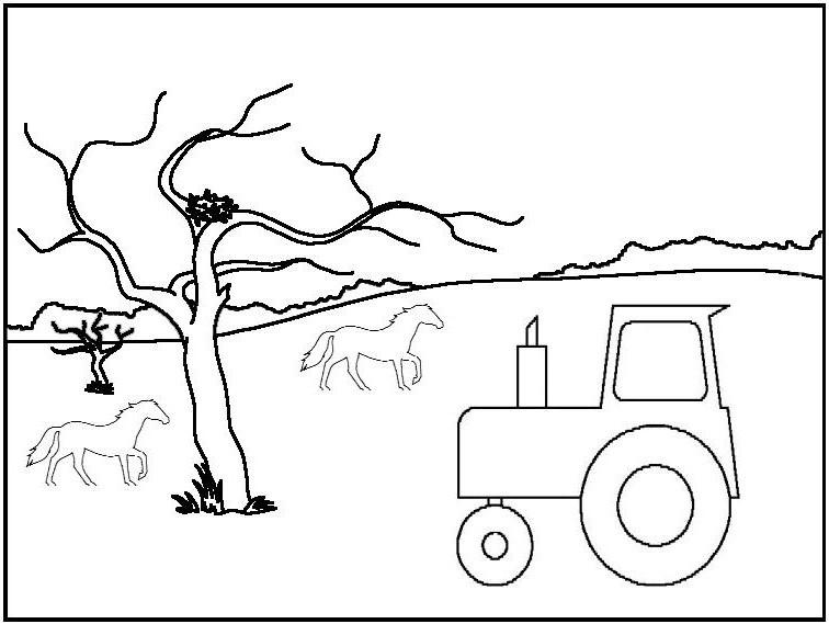S lection de dessins de coloriage tracteur imprimer sur - Coloriage tracteur avec remorque ...