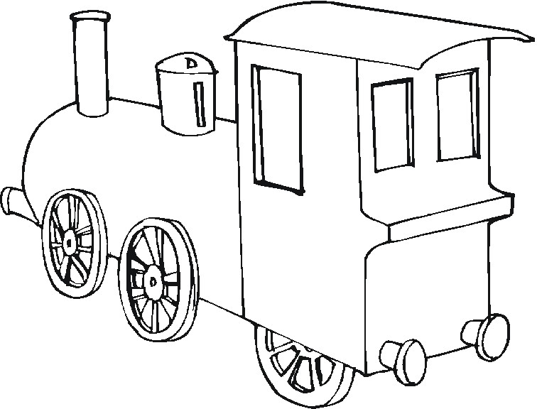 S lection de dessins de coloriage train imprimer sur - Locomotive dessin ...