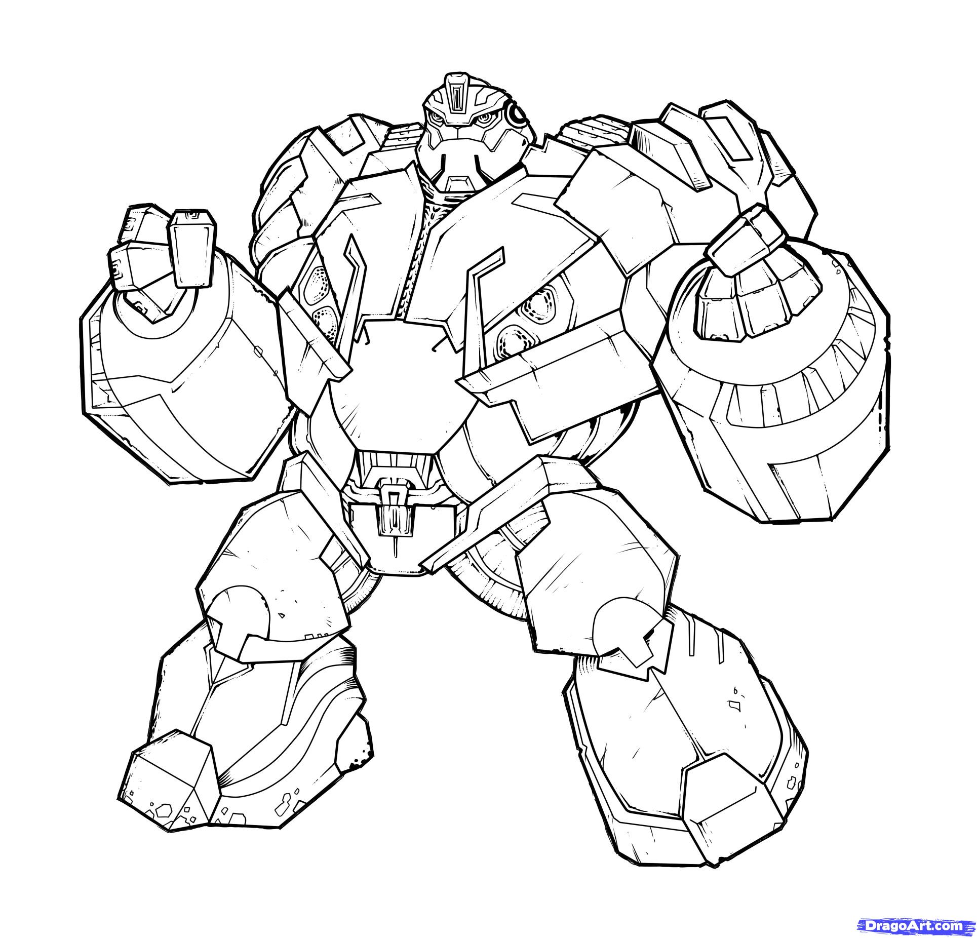 how to draw bulkhead, transformers prime, bulkhead step
