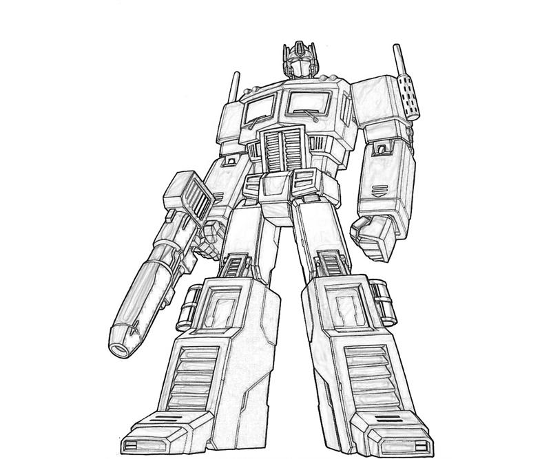 135 dessins de coloriage transformers imprimer sur - Optimus prime dessin ...