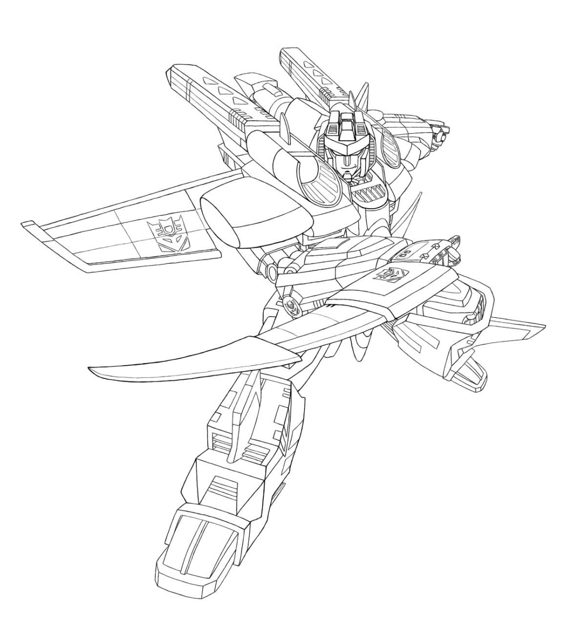 coloriage transformers armada