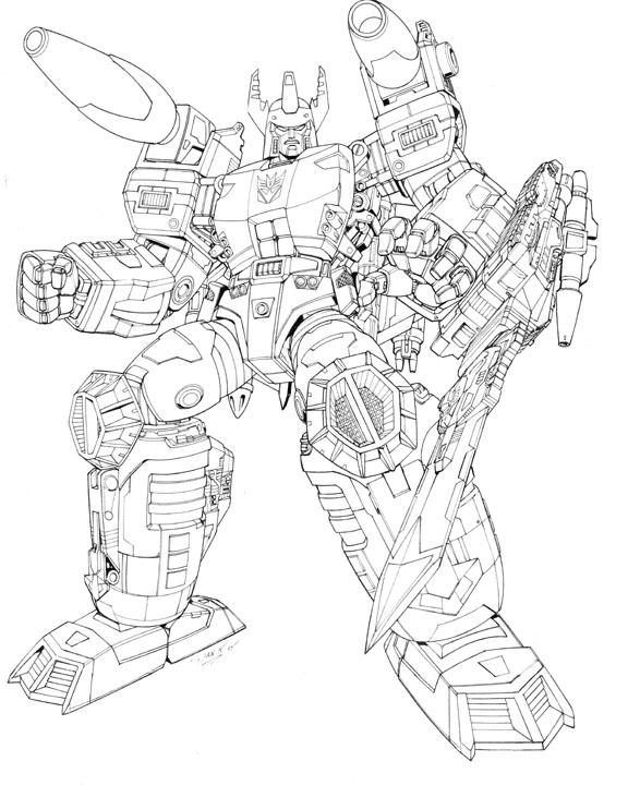 coloriage transformers: energon