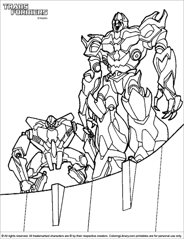 transformers dessin à colorier back to transformers coloriage