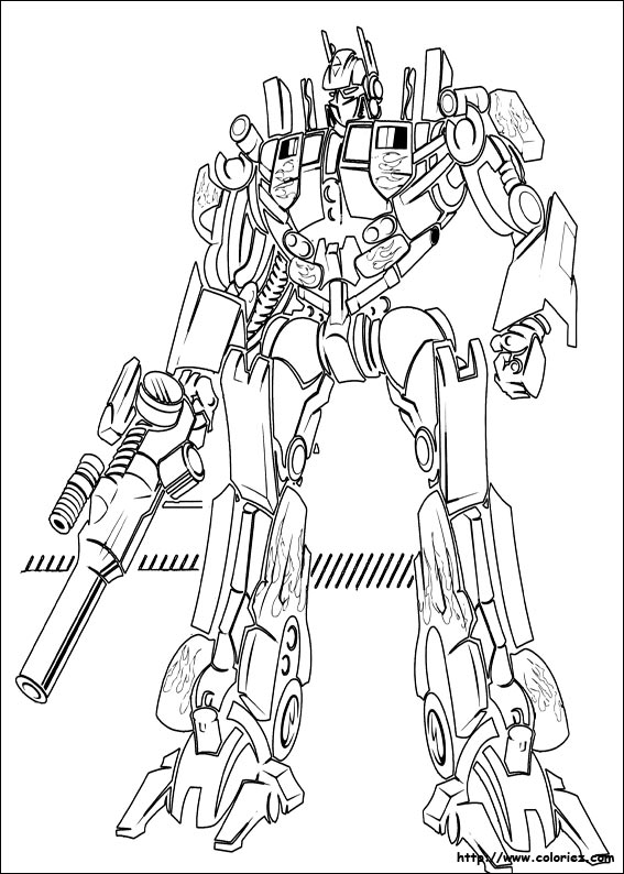 coloriage transformers