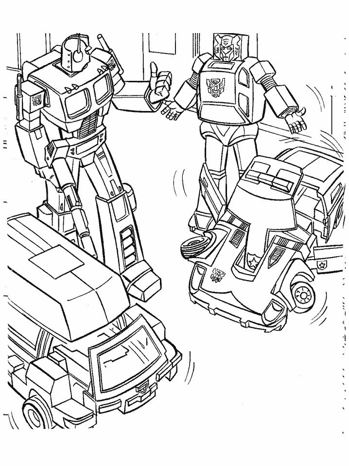coloriage transformers image