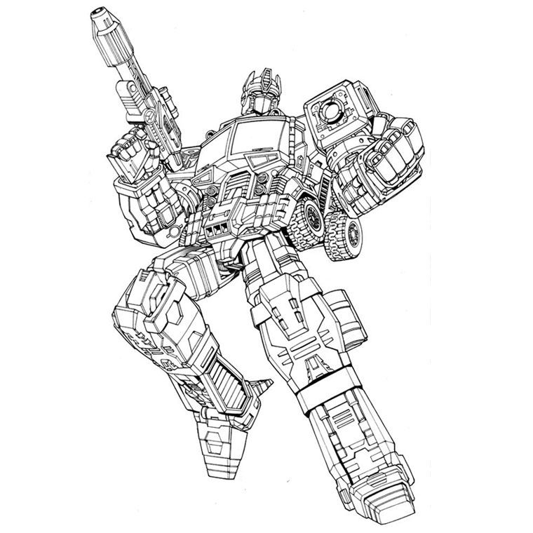 coloriage transformers optimus pour imprimer le coloriage transformers