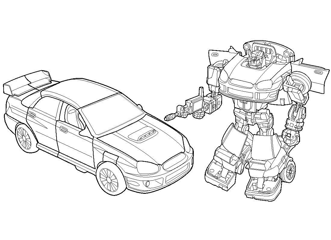 coloriage transformers avant et apres transformation