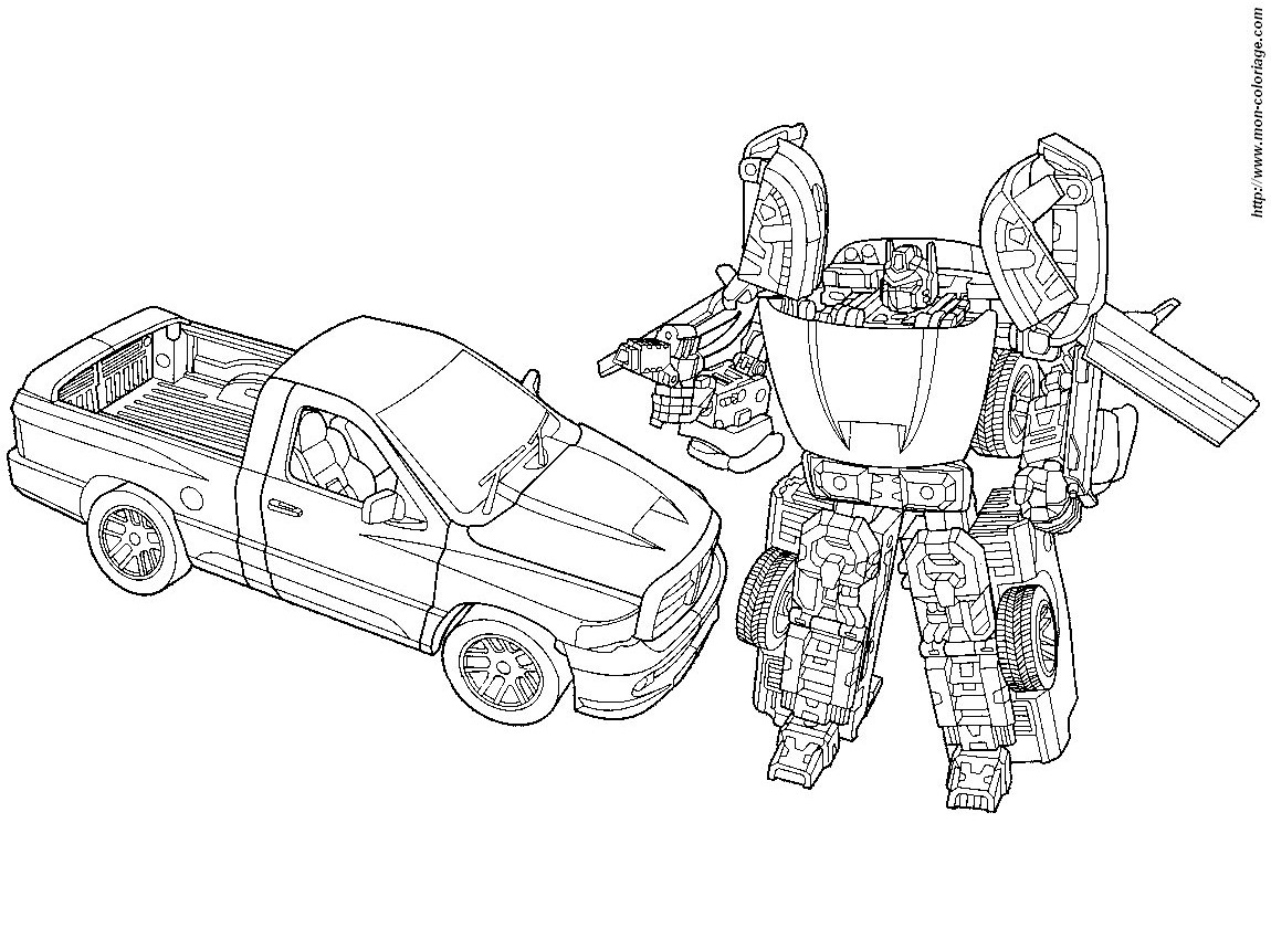 coloriage de transformer, dessin coloriage transformers à colorier