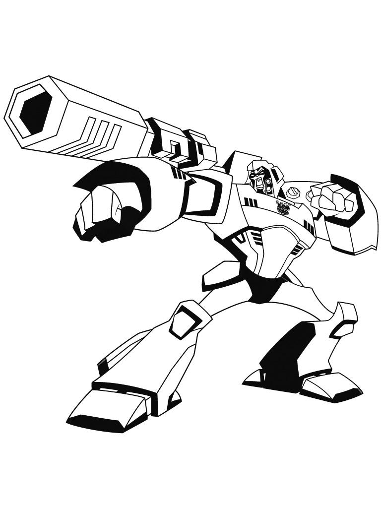 coloriage robots transformers