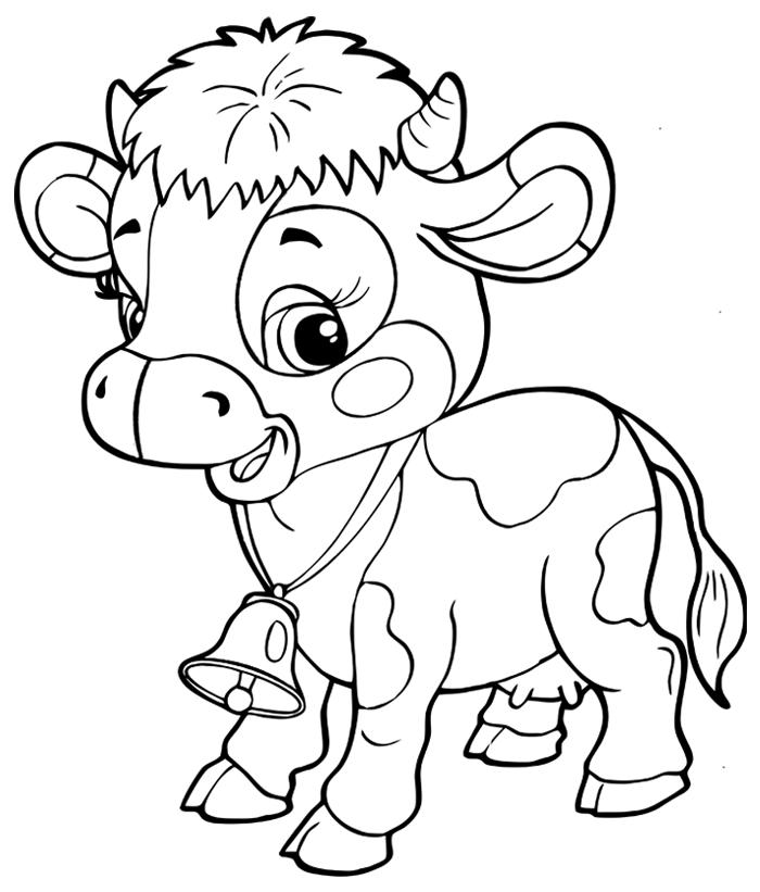 S lection de coloriage vache imprimer sur - Vache en dessin ...