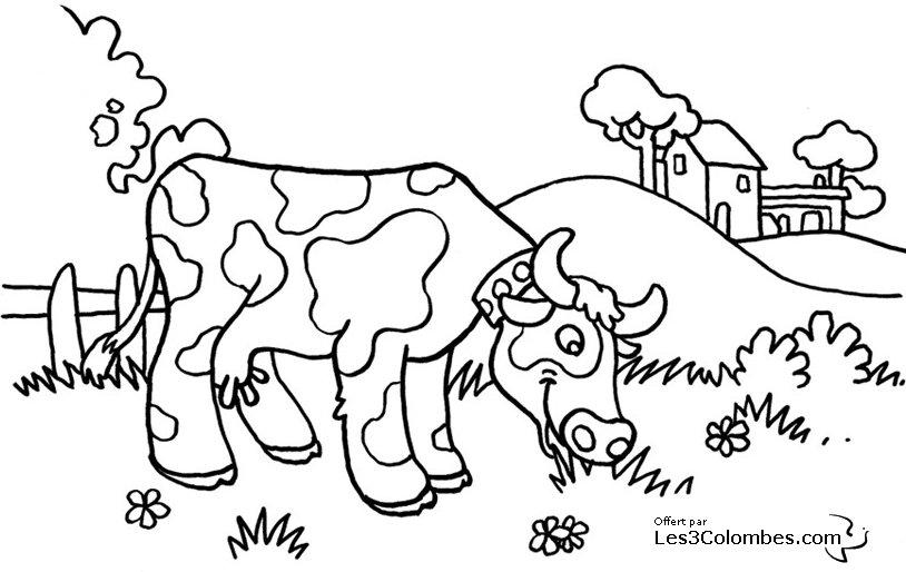 Sélection de coloriage vache à imprimer sur LaGuerche.com ...