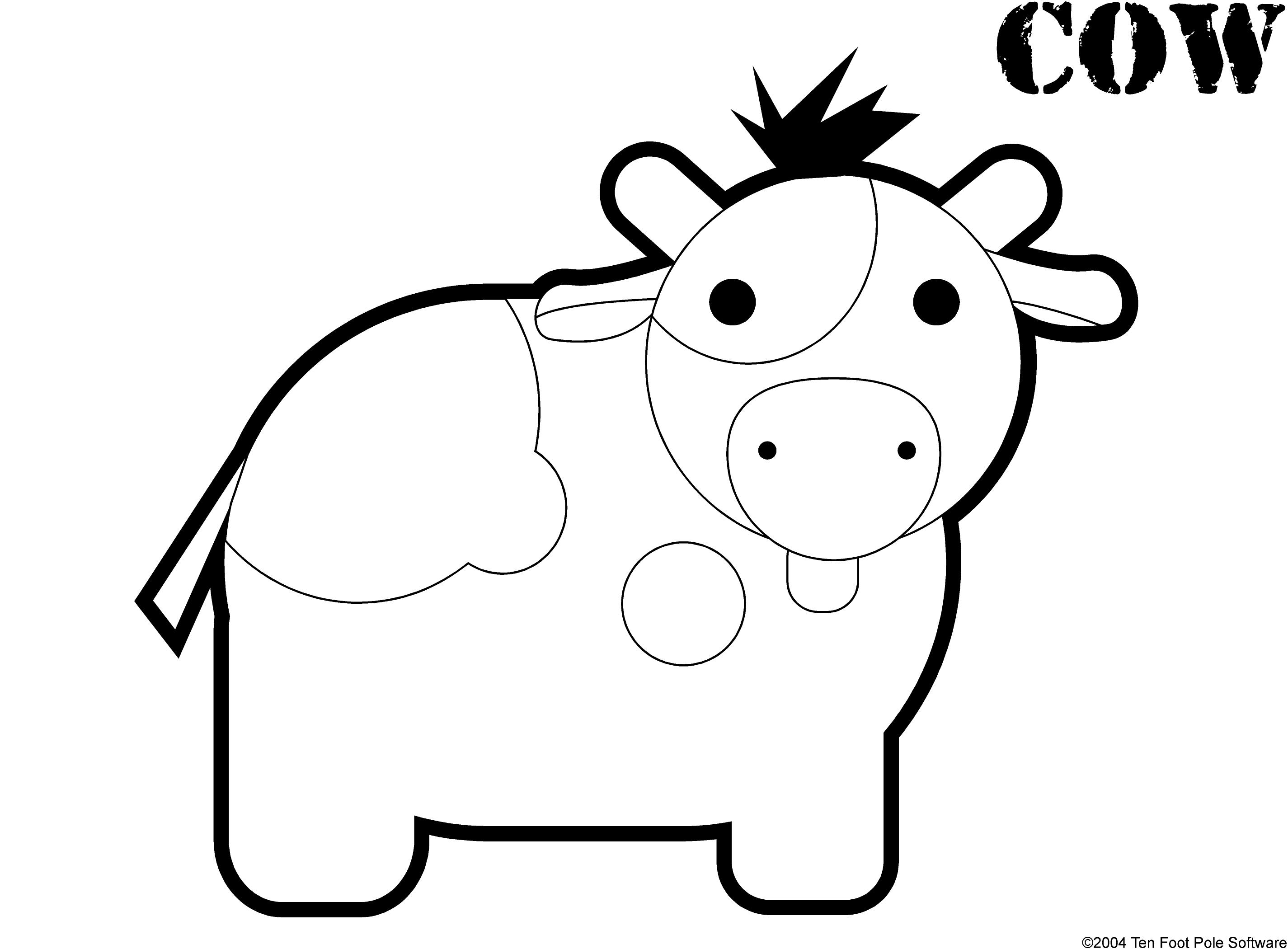 S lection de coloriage vache imprimer sur page 2 - Dessin d une vache ...
