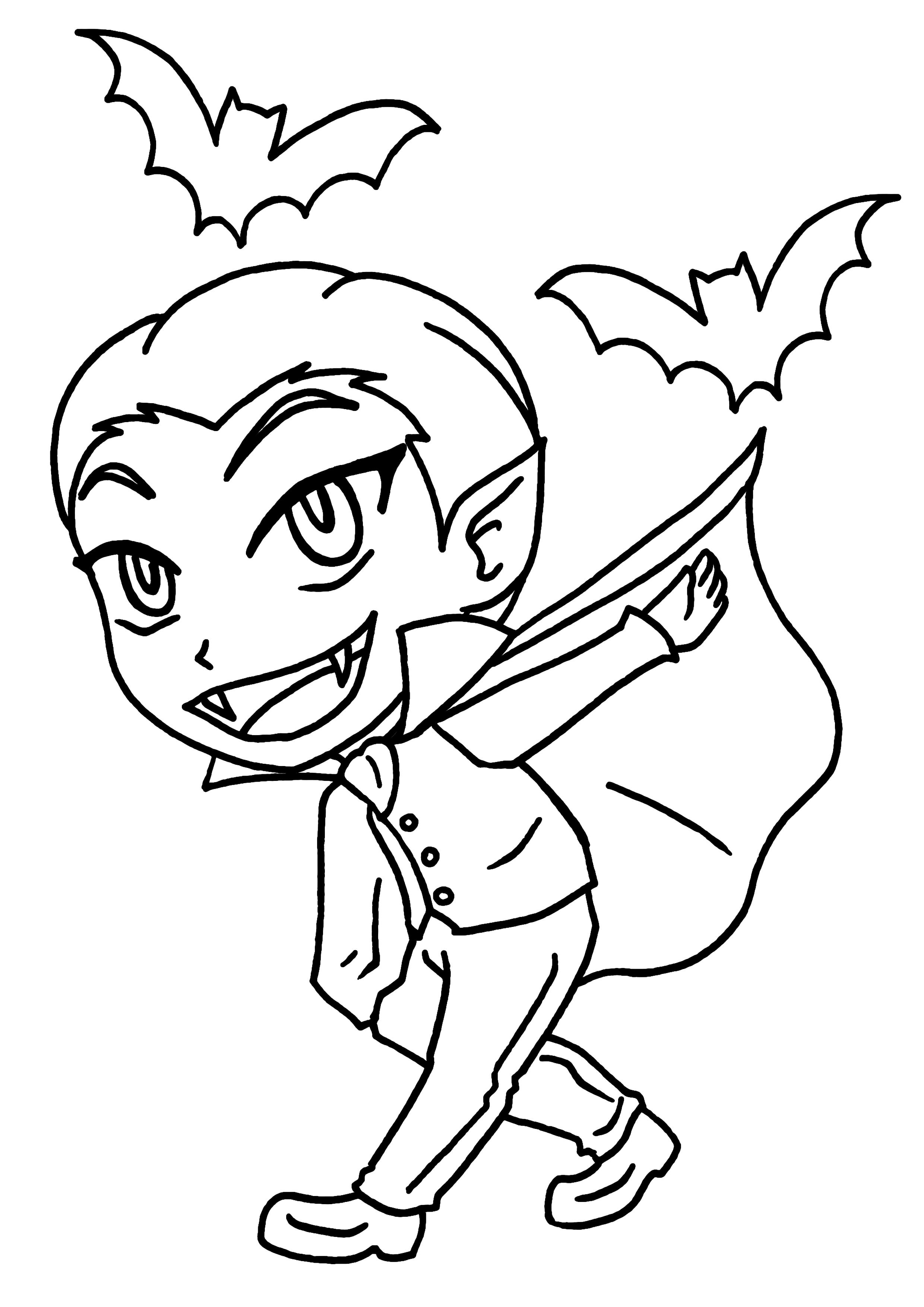 44 dessins de coloriage vampire imprimer sur laguerche - Dessin vampire a colorier ...