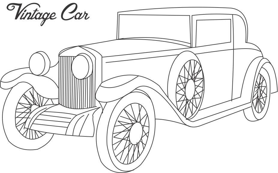 old fashioned cars coloring pages - photo#6