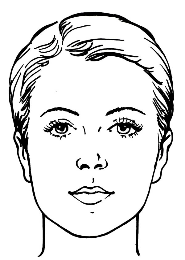 Human face outline drawing